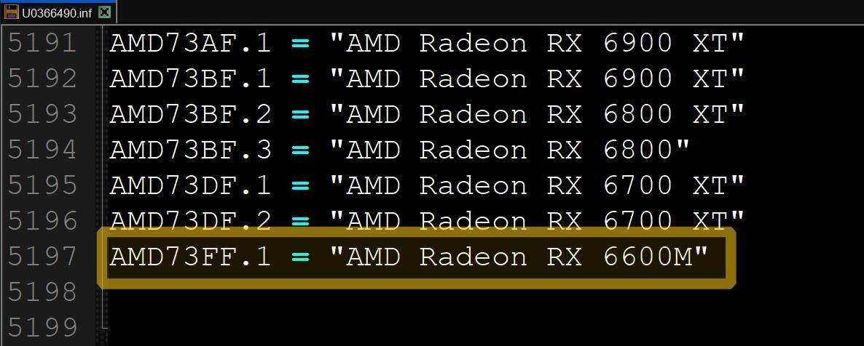 AMD Radeon RX 6600M mobilny