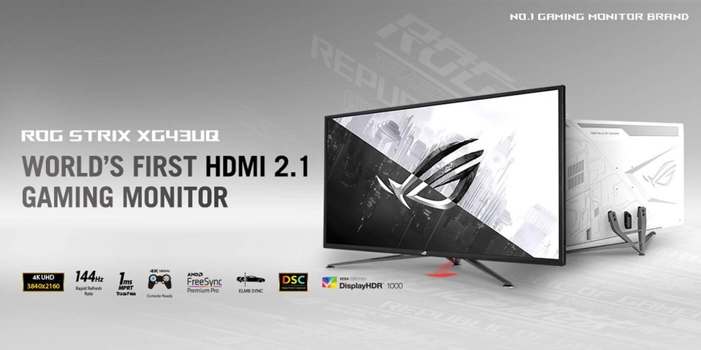 To pierwszy tak wyjątkowy gamingowy monitor ASUS Strix XG43UQ