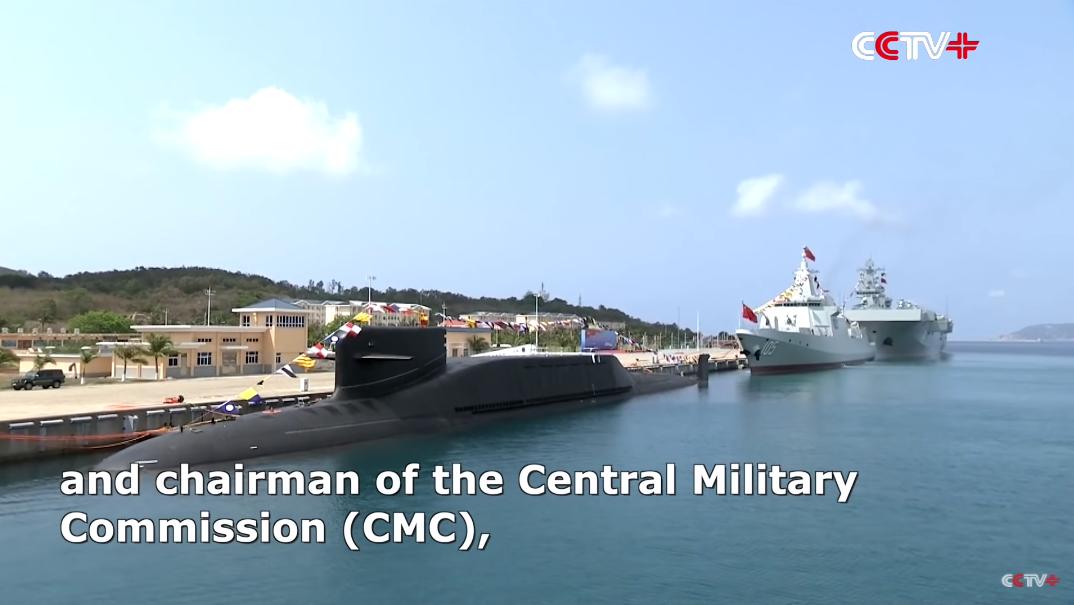 trzy nowe okręty wojenne Chin
