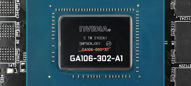 Nowy rdzeń GeForce RTX 3060, GA106-302