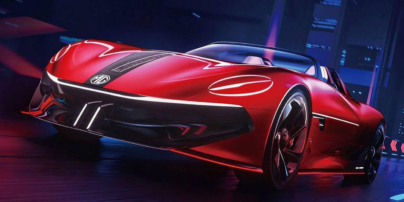 Oto Cyberster od MG Motor, łączący futuryzm z elektrycznością
