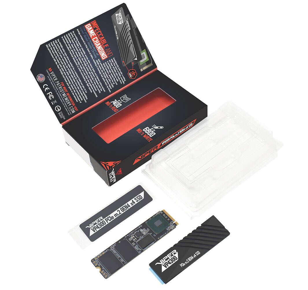 Patriot Viper VP4300 nowym dyskiem na PCIe 4.0 z dwoma chłodzeniami