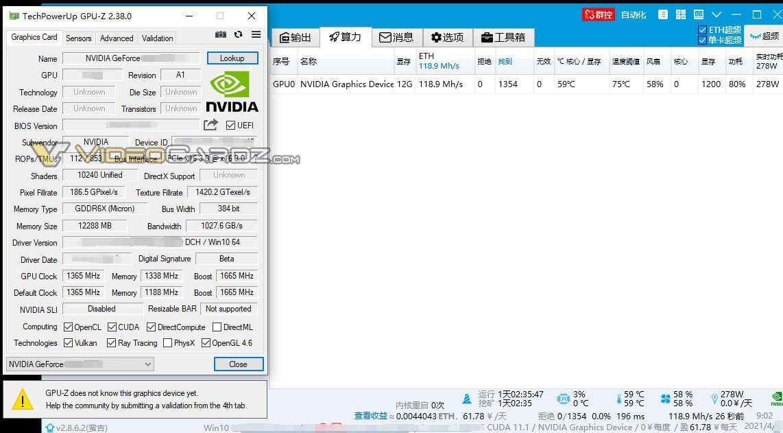 Wyciek GeForce RTX 3080 Ti poddaje w wątpliwość ograniczenia kryptowalut NVIDII