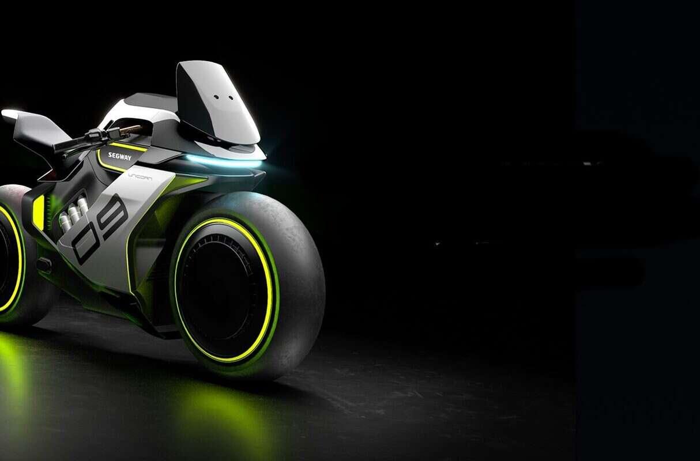 futurystyczny motocykl na wodór, Apex H2, Apex H2 od Segway