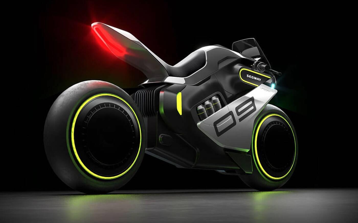 Spójrzcie na ten futurystyczny motocykl na wodór. Oto Apex H2 od Segway