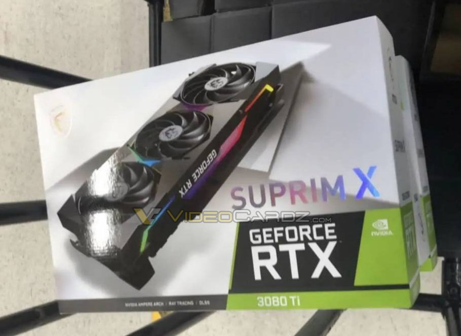 zdjęcie GeForce RTX 3080 Ti SUPRIM X firmy MSI, zdjęcie GeForce RTX 3080 Ti, GeForce RTX 3080 Ti SUPRIM X