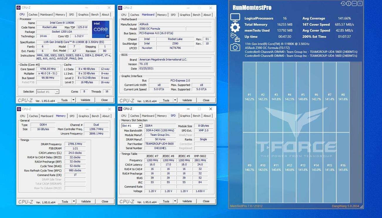 Team Group wypuszcza pamięci dla 11. generacji Intela
