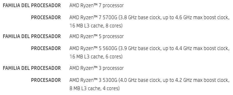 specka AMD Ryzen 5000G