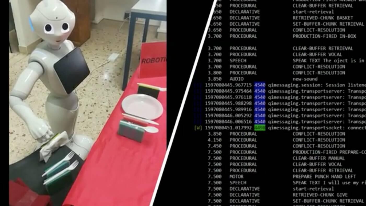Robot Pepper dzięki mowie wewnętrznej jest w stanie rozwiązywać szereg problemów