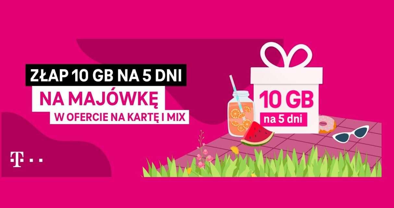 T-Mobile rozdaje pakiet 10 GB na majówkę