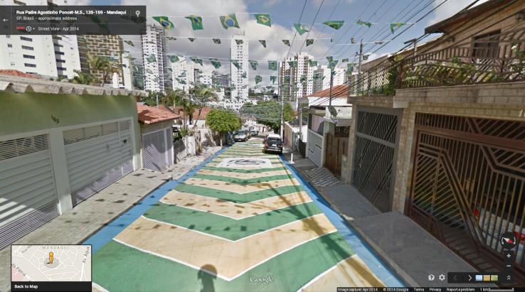 Stadiony Mistrzostw Świata w Brazylii w Google Street View