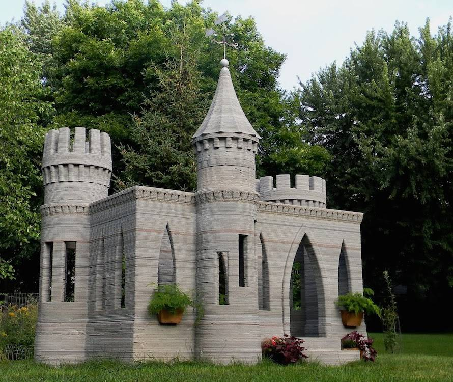 Zamek wydrukowany w 3D