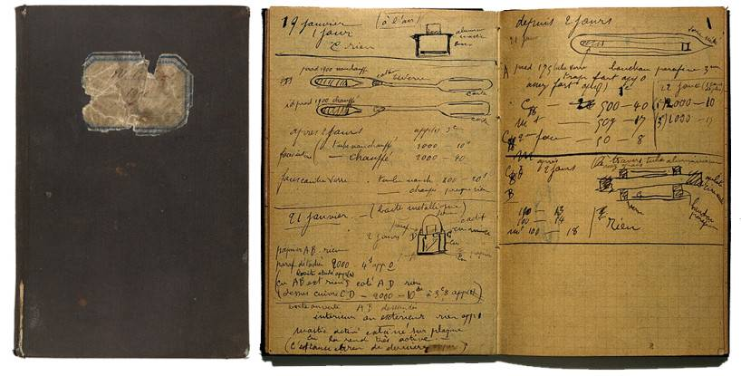 L0021265 Marie Curie: Holograph Notebook.