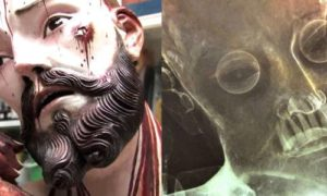 Znaleziono ludzkie zęby w 300 letniej statuetce Jezusa