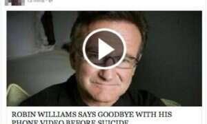 Facebookowi oszuści wykorzystują śmierć Robina Williamsa