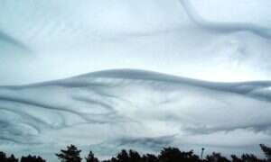 Wspaniałe ujęcia chmur Asperatus