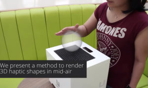 Technologia używająca ultradźwięku do tworzenia dotykowych obiektów