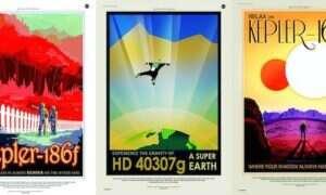 NASA stworzyła wspaniałe plakaty wycieczkowe na egzoplanety