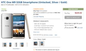 Wyciekła data premiery i specyfikacja HTC One M9