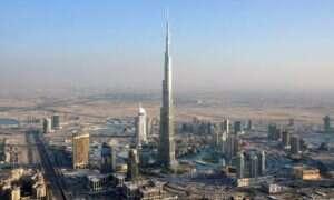 Wykres, pokazujący najwyższe stawiane budynki na przestrzeni lat