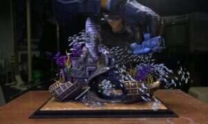 Artystyczna wizja: Ławica ryb w miniaturowym akwarium. Wszystko w CGI.