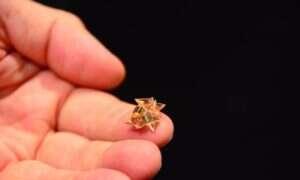 Maleńki robot origami, który potrafi sam się skonstruować, ruszać i rozpuścić