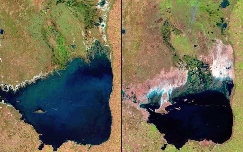 shrinking-mar-chiquita-lake-argentina-1998-vs-2011