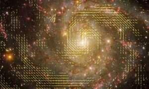 Naukowcy badają genezę magnetyzującej spirali galaktyki