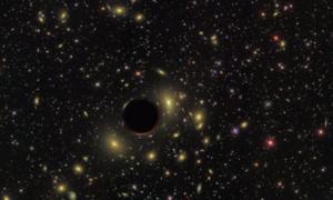 Poszukiwania oznak ciemnej materii w pobliżu czarnych dziur