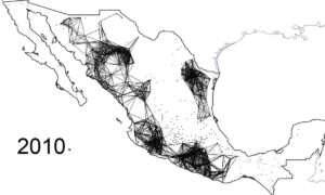 Mapy rozprzestrzeniania się meksykańskiej przemocy narkotykowej