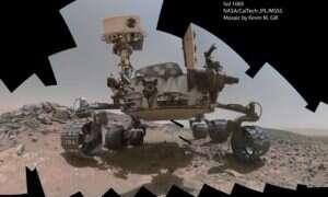 """Posklejane przez amatora """"selfie"""" łazika Curiosity"""
