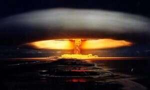 Mapa pokazująca wszystkie atomowe detonacje