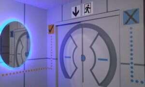 """Zrobili synowi sypialnię w stylu gry """"Portal"""""""