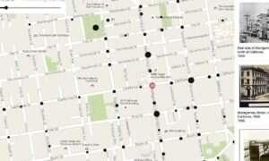 Interaktywna mapa pozwalająca przeglądać archiwalne zdjęcia San Francisco