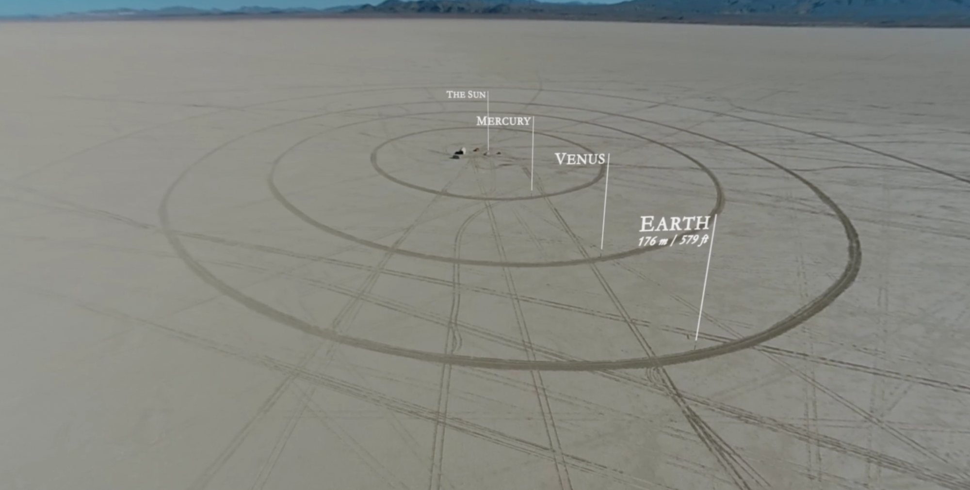 Fenomenalny model Układu Słonecznego zbudowany na pustyni