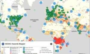 Mapa katastrof naturalnych online