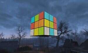 Oto wielka Kostka Rubika stworzona w Falloucie 4