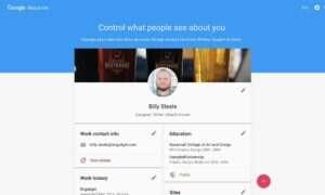 About me – strona-osobisty profil, który wykorzystają liczne aplikacje Google