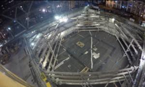 Film z 18-godzinnego wylewania betonu pod Salesforce Tower