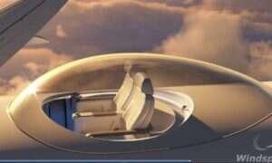 Luksusowa kopuła na grzbiecie pasażerskiego odrzutowca