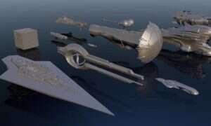 Ciekawy filmik porównuje kształty i wielkości znanych z mediów statków kosmicznych