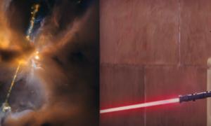Nowe zdjęcie z teleskopu Hubble'a – strumienie materii niczym miecz świetlny