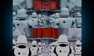 Trailer Star Wars odtworzony tylko przy użyciu Snapchat art