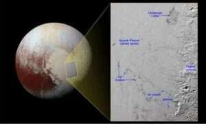 Odkryto góry lodowe na Plutonie