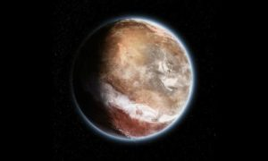 Marsjańska erupcja wulkaniczna, która przesunęła całą skorupę planety