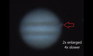 Jowisz uderzony przez tajemniczy obiekt. Odkrywca? Astronom – amator