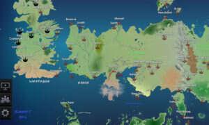 Interaktywna mapa Westeros z Gry o tron