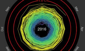 165 lat zmian klimatu na jednej, przejrzystej animacji