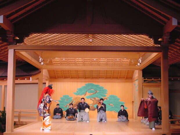 Przedstawienie w teatrze nō
