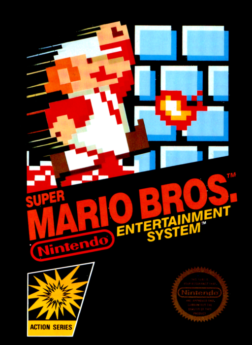 "Okładka gry ""Super Mario Bros."""